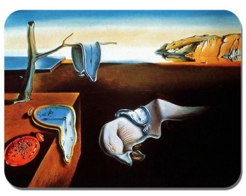 Salvador Dali Persistence Of Memory Mouse Mat. High Quality Art Print Mouse Pad
